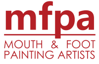 Mouth & Foot Painting Artists Logo