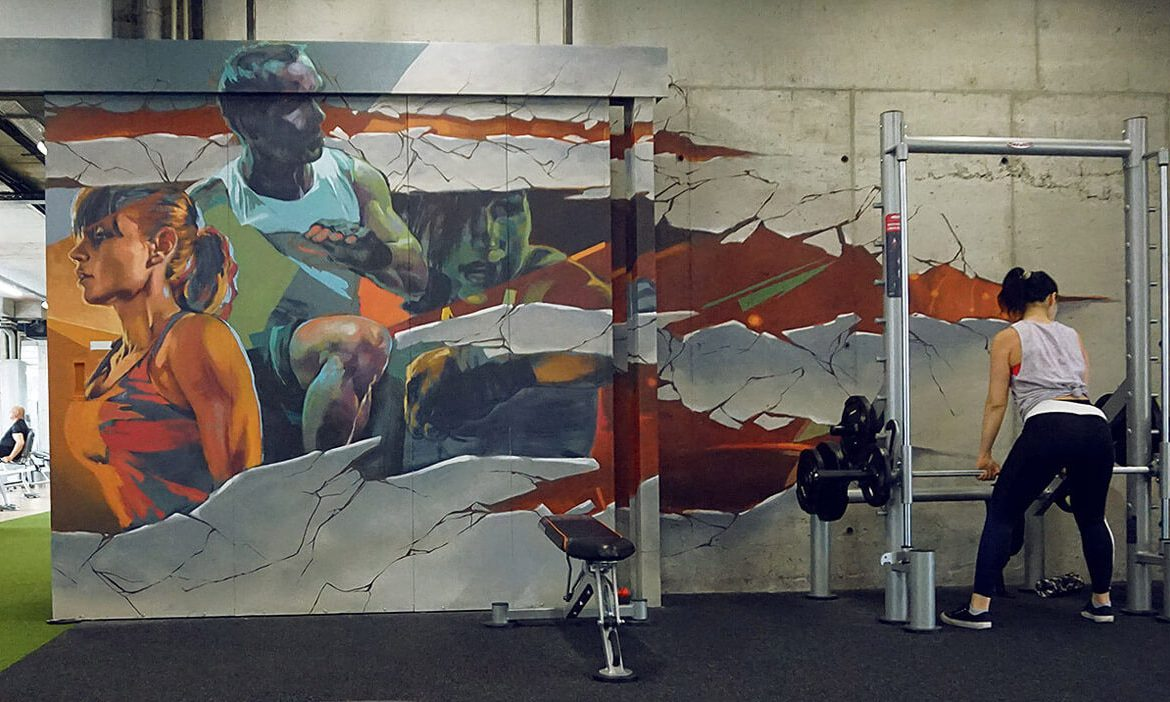 Mural for a Gym on Art-Ma