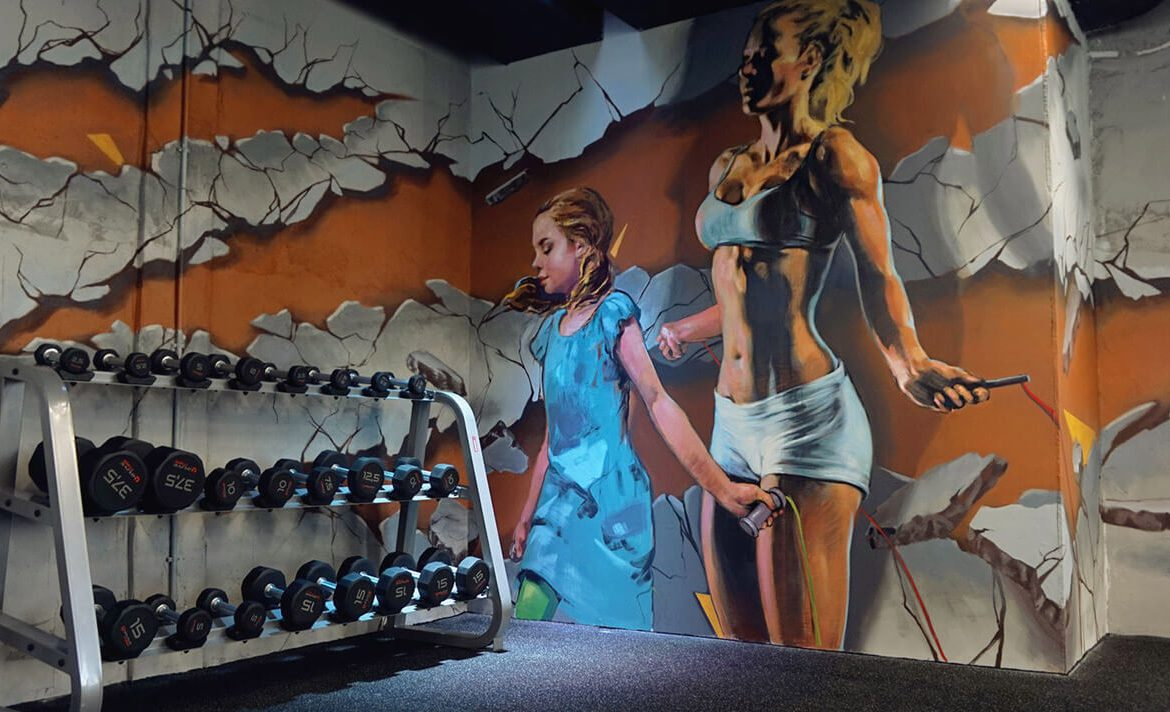 Athletic-Fitness Mural