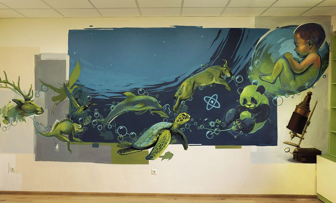 Aquatic Wall Mural- Simeon Veliki Private School
